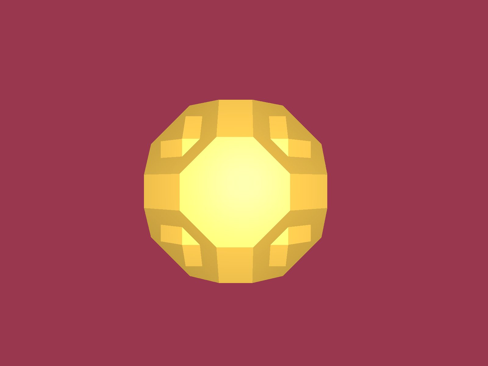 Rendering of a faceted sphere